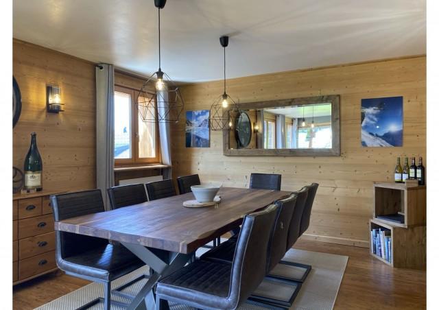 Chalet les 3 ours salle à manger Châtel Haute Savoie