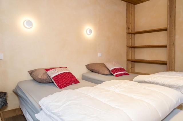 Chalet les Bucherons, Chambre 2 lits simples, Châtel