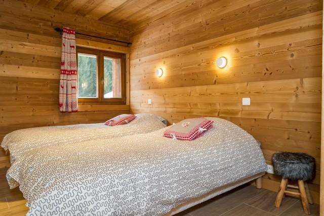 Chalet les Bucherons, Chambre 2 lits simples, Châtel Alpes du Nord
