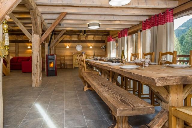 Chalet les Bucherons,Salle à manger, Châtel