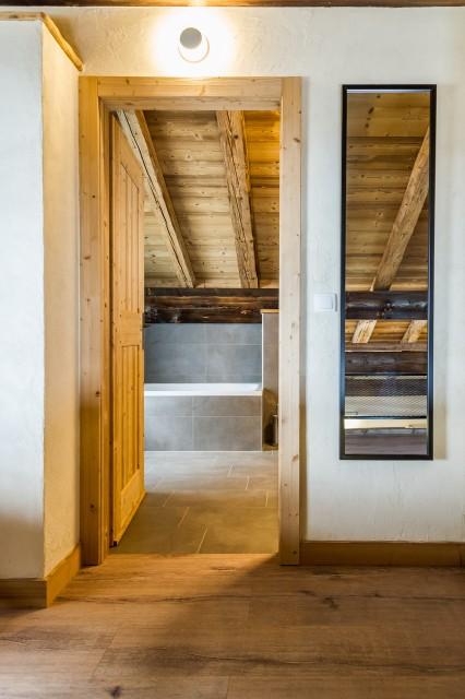 Chalet les Bucherons, Salle de bain sur la mezzanine, Châtel Haute Savoie