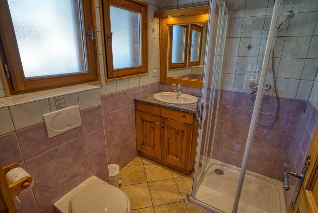 chalet les deux vallées salle de bain  Châtel Haute-Savoie