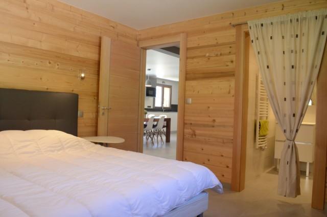Chalet les sources, chambre 1 lit double au rez de chaussée, Châtel Portes du Soleil