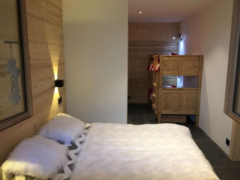 Appartement 103, résidence Bois Colombe, Chambre 2 lits simples + 2 lits superposés Châtel Haute Savoie