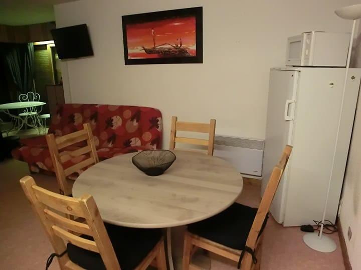 Appartement 69 dans la résidence Yéti Bat 1, Coin repas Châtel