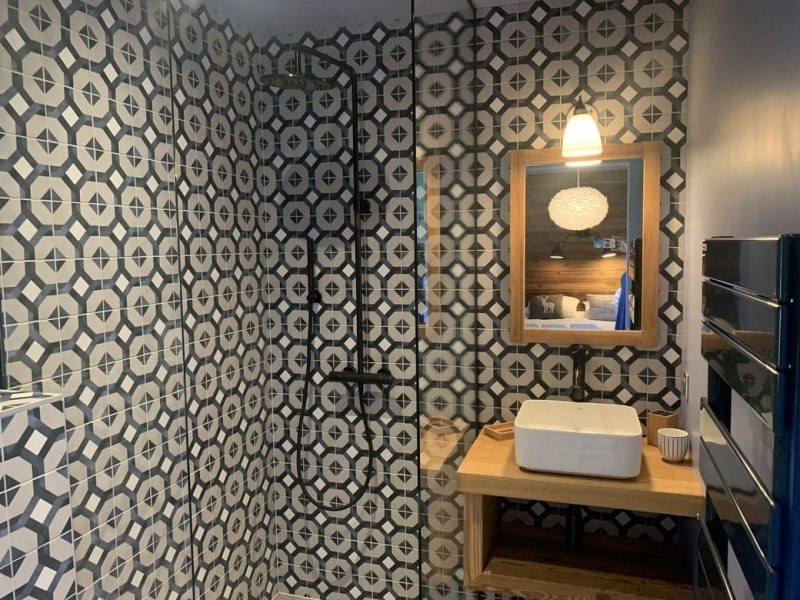 Appartement Chalet Cosy Mountain salle de bain Châtel Haute Savoie