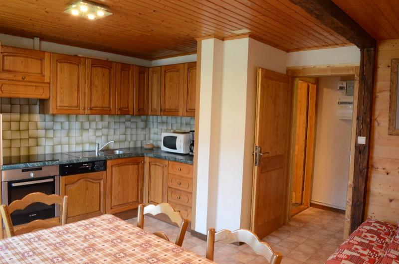 Appartement dans chalet la Ferme, séjour, Châtel Haute Savoie