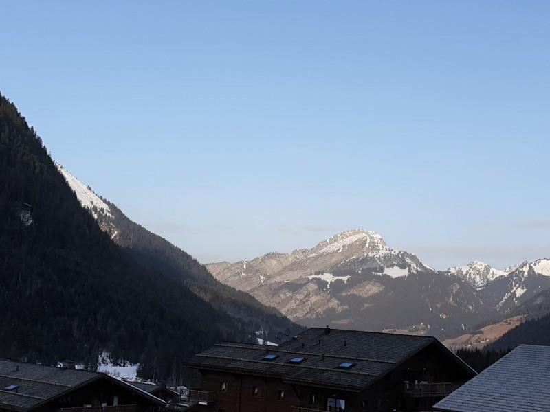 Appartement la toison blanche 55 C vue depuis le balcon Châtel Haute Savoie