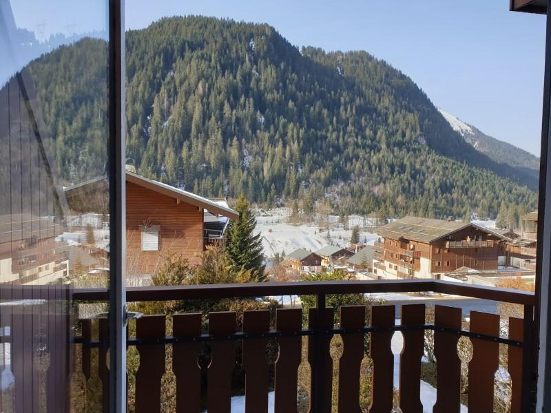 Appartement la toison blanche 55 C vue depuis le balcon Châtel Portes du Soleil