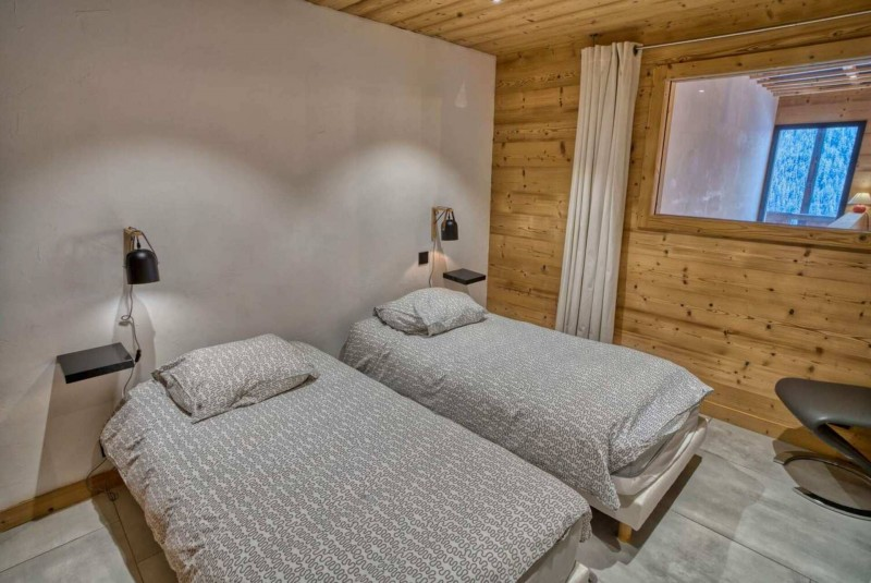 Appartement Martonne terrasse, Chambre 2 lits simples, Châtel