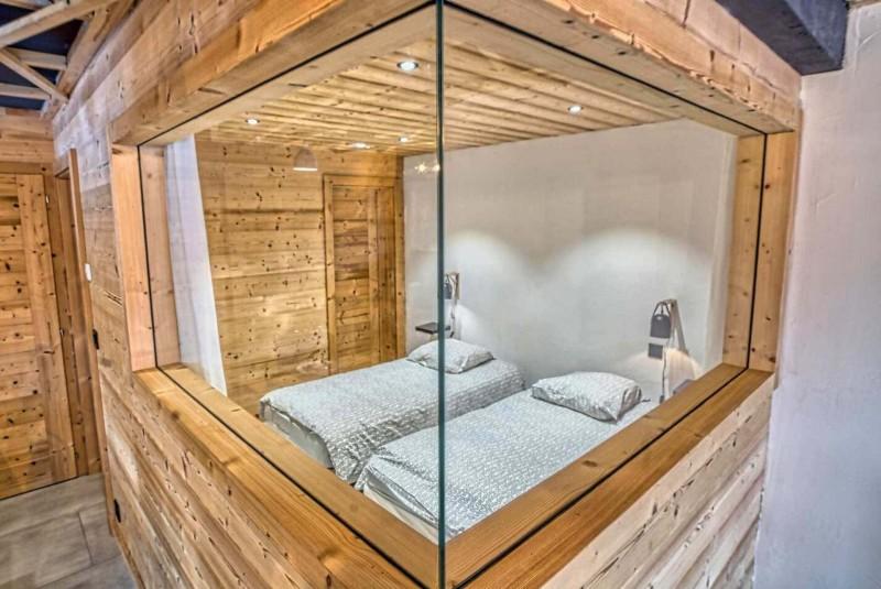 Appartement Martonne terrasse, Chambre 2 lits simples, Châtel Portes du Soleil