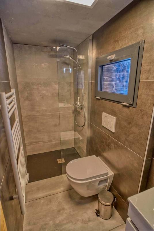 Appartement Martonne terrasse, Salle de douche au rez de chaussée, Châtel