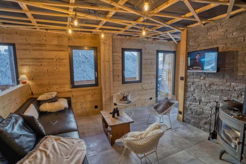 Appartement Martonne terrasse, Salon, Châtel Alpes du Nord