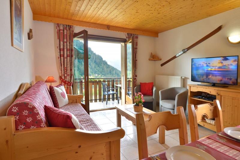 Appartement n°3 dans résidence le Blanchot, Séjour, Châtel Haute Savoie