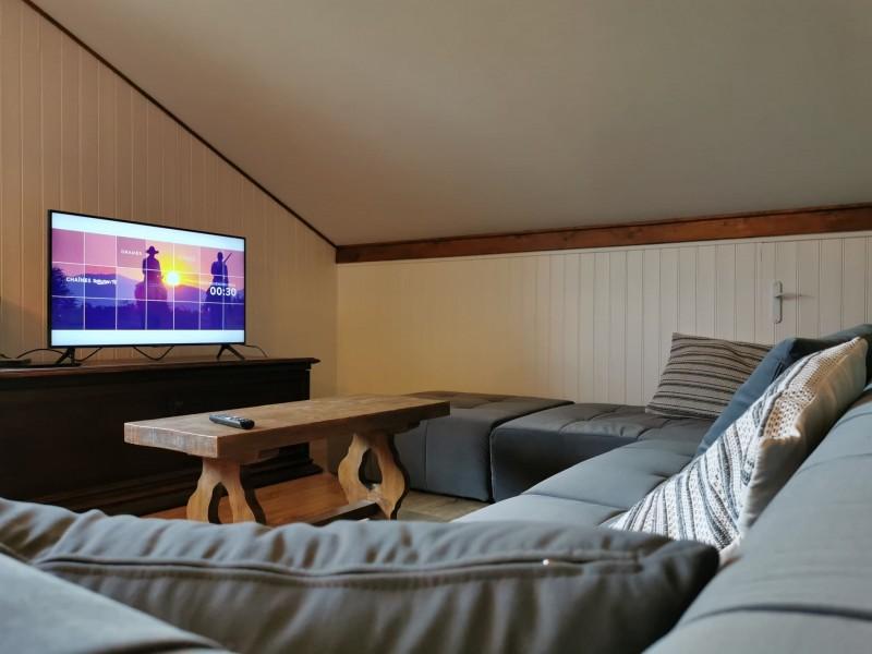 Chalet Domisiladoré, Salon TV à l'étage, Châtel Haute Savoie