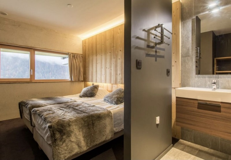 Chalet du Saix chambre 2 lits simples Châtel