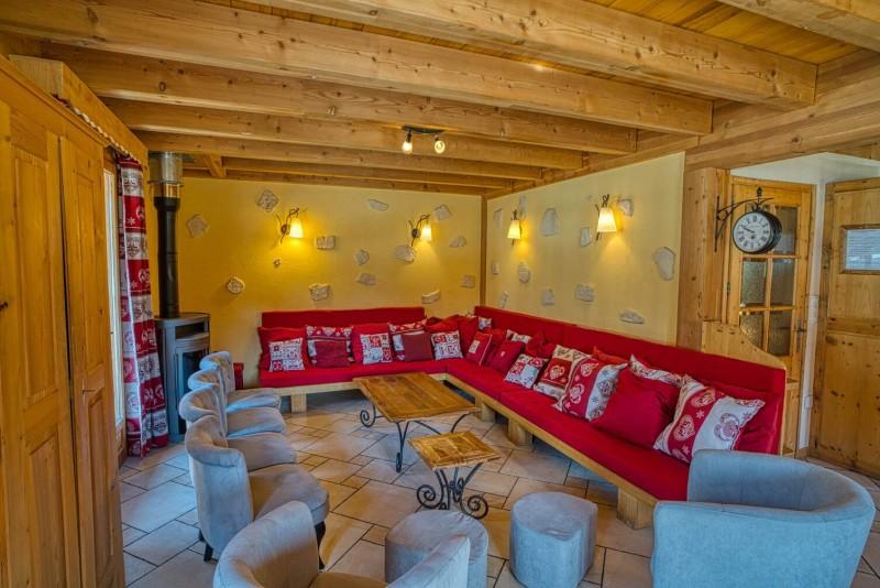 Chalet La Cascade salon Châtel 74