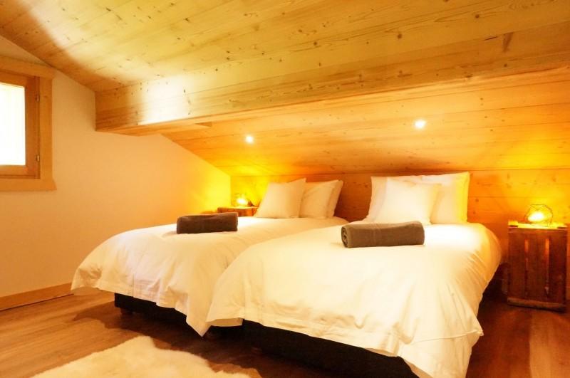 Chalet les 3 ours chambre avec 2 lits simples Châtel