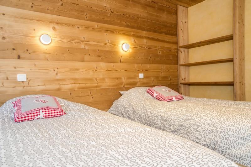 Chalet les Bucherons, Chambre 2 lits simples, Châtel Haute Savoie