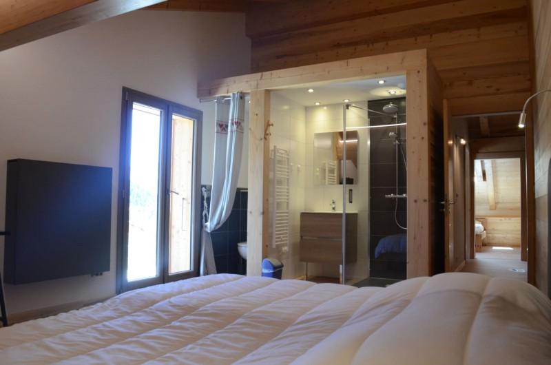 Chalet les sources, chambre 2 lits simples à l'étage, Châtel
