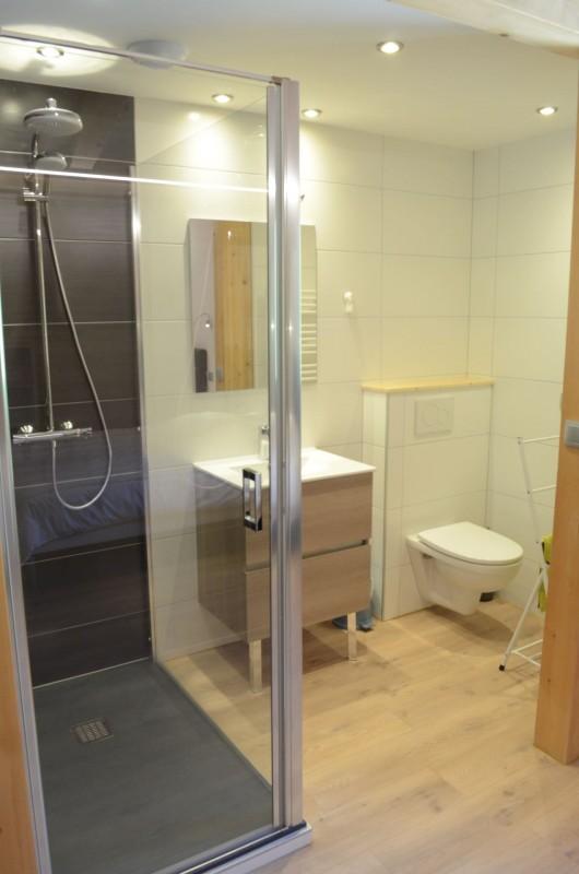 Chalet les sources, salle de douche de la chambre 1 lit double à l'étage, Châtel