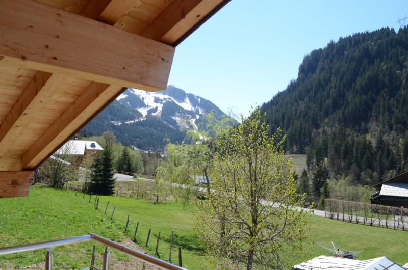 Chalet les sources, vue du balcon de la chambre 2 lits simples, Châtel
