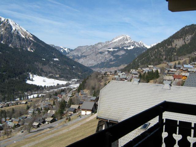 Vue depuis le balcon au printemps